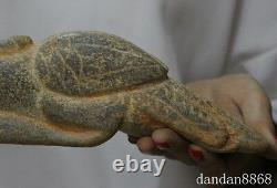 11 old chinese Hongshan Culture old jade hand-carved eagle bird statue