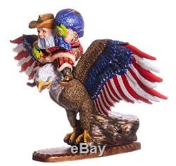 13 Hand carved Santa Claus EAGLE Handpainted Christmas wood figurine Ded Moroz