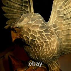 14 Hand Carved Wooden Eagle Carved by Artist in Poland