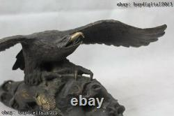 16 Chinese Fengshui Bronze king of birds Eagle Hawk Animal sculpture Statue