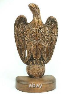 19 Large Wooden Eagle Hand Carved Folk Art American Eagle