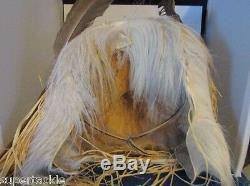 1996 Signed Hand Carved Cedar EAGLE Mask British Columbia Salish Squamish Tribe