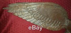 19th Century Folk Art Hand Carved Wooden Eagle 35