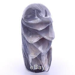 2.19LB Natural Geode Agate eagle skull hand Carved crystal, Crystal Healing
