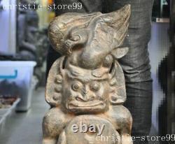 26 Chinaes Hongshan Culture old jade Hand-carved Sun god eagle Sacrifice statue