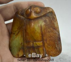 3.2 Old Chinese Neolithic period HongShan jade Hand Carved Eagle Birds statue