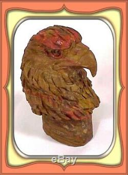 314.6gr Eagle Bust Petrified Wood Carving