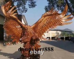 320 CM China Hand-carved wood Large The Eagle Wings Statue