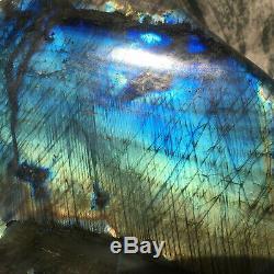 4.66KG Natural Labradorite eagle snake Hand Carved Crystal Healing OK235-SWB