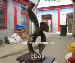 45 CM Western Art Deco Bronze Wing Lanneret Hawk Eagle Art ornament Sculpture