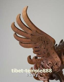 58.5cm China Art Deco Brass Wing Lanneret Hawk Eagle Abstract ornament Sculpture