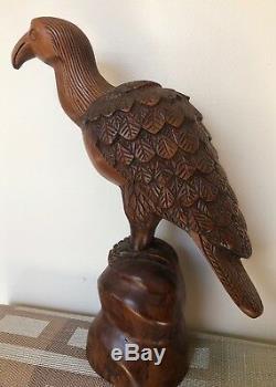 American Juniper Wooden Eagle. Hand Carved Eagle