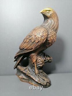 Ancient Chinese Handmade Pure Copper Eagle Statue Ornament