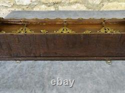 Antique French Hand Carved Oak Wood Wall Coat Hat Rack Eagle & Putti Hooks