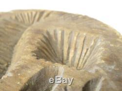 Antique Hand Carved Wood Butter Mold Pennsylvania Stylized EAGLE AAFA Geometric