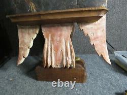Antique Hand carved figural Eagle Lectern