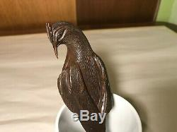 Antique Vintage Hand Carved Wood screw type Nutcracker Bird (Eagle)