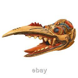Balinese Garuda Eagle Mask Topeng Carved wood Bali Folk Art Indonesia Wall decor