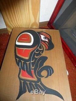 Batchewana First Nations of Ojibways/Haida Hand Carved Cedar Eagle carving