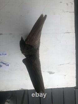 Black Forest Eagle Statue Wood Hand Made Carving Schwarzwald Bear Germany Adler