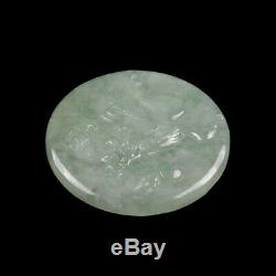 Certified Grade A 100% Natural Green Jade Jadeite Pendant Handcarved Eagle Z3759