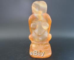 China Hongshan Culture Old crystal hand-carved eagle Statue 1158g
