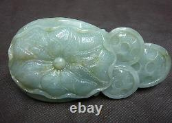 Chinese Jadeite Jade Eagle King Big $$$ Rich Lucky Hand Player Carving 297G LLZB
