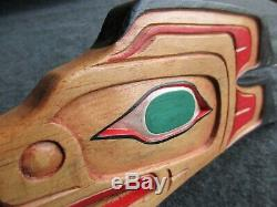 Classic Northwest Coast Design, Hand Carved Eagle Effigy Plaque, Wy-03445a