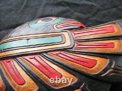 Classic Northwest Coast Design, Hand Carved Eagle Effigy Plaque, Wy-102004660
