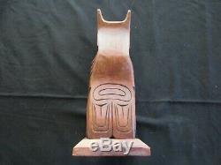 Classic Northwest Coast Design, Hand Carved Eagle Effigy Totem Pole, Wy-04667