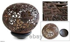 Coconut Shell Sculpture with Stand Hand Carved'Balinese Eagle' NOVICA Bali
