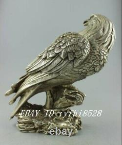 Decorative hand carved Tibet Silver Eagle Statue