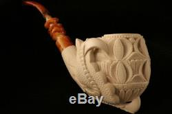 Deluxe Eagle's Claw Hand Carved Block Meerschaum Pipe by I. Baglan in case 8021
