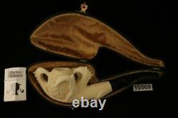 Deluxe Eagle's Claw Hand Carved Block Meerschaum by Kenan with CASE 10569