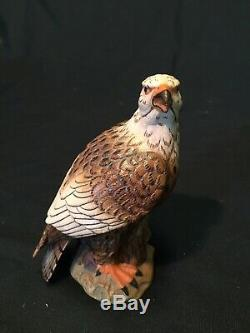 Dolfi Anri Hand Carved Wood Figurine Bald Eagle Bird Decoy