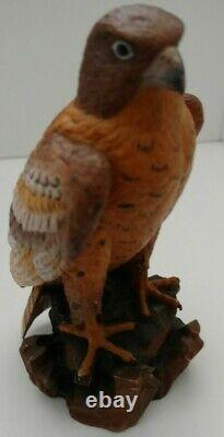 Dolfi Original Carved Wood Hawk 25/5000 5 Tall Collectible Hand Painted Italy