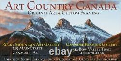 Dora EDWARDS Eagle Paddle Coast Salish Haida Art Carving Hand Painted Native ART