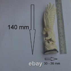 Eagle Carving 140mm Height T455 in Antler Hand Carved