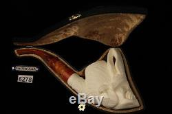 Eagle Hand Carved Block Meerschaum Pipe by I. Baglan in a fitted case 6278