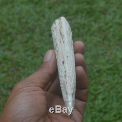 Eagle Head Carving 142mm Length Handle H969 in Antler Bali Hand Carved