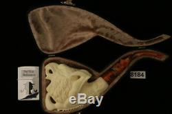 Eagle Head in Claw Hand Carved Meerschaum Pipe by Emin Brothers in case 8184