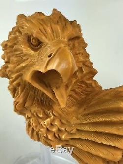 Eagle PIPE BY SADIK YANIK BLOCK MEERSCHAUM-NEW-HAND CARVED-FROM TURKEY