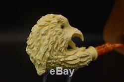 Eagle PIPE BY SADIK YANIK BLOCK MEERSCHAUM-NEW-HAND CARVED-FROM TURKEY#1278