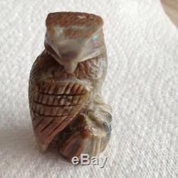 Eagle Zuni Arvella Cheama Picasso marble fetish handcarved 0177