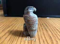 Eagle Zuni Picasso marble fetish handcarved Arvella Cheama 7144