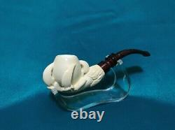 Eagle claw Meerschaum Pipe best hand carved tobacco smoking pfeife wth case