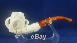 Eagle claw meerschaum pipe, hand carved meerschaum pipe, block meerschaum