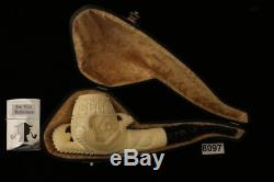 Eagle's Claw Hand Carved Block Meerschaum Pipe by Tekin in a fitted case 8097
