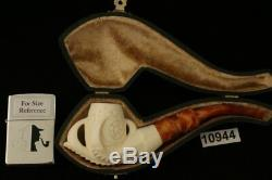 Eagle's Claw Hand Carved Block Meerschaum Pipe with custom CASE 10944
