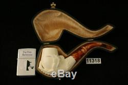 Eagle's Claw Hand Carved Block Meerschaum Pipe with custom CASE 11318